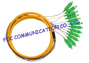 China Distribution Fan Out Optical Fiber Pigtail For FTTX , APC sc pigtail single mode12 Cores on sale