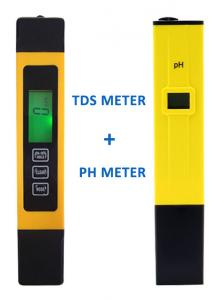China 15.5*2.9*1.6cm PH And Temperature Meter , Swimming Pool PH Tester Digital  on sale
