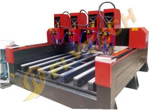 China Heavy duty tombstone engraving machine with four head cnc router for stone factory price on sale