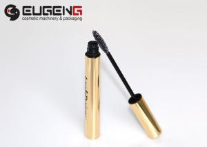 China Thin Wall Aluminum Tube Empty Makeup Containers Mascara Tube With Brush on sale