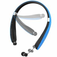 Headphones Wireless Stereo Neckband Foldable Sport Earbuds with Mic and Retractable Earphones