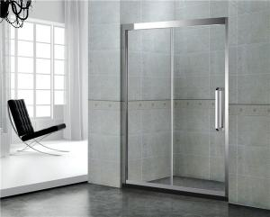 China Straight Sliding Glass Shower Doors Self Cleaning With SGCC Certification on sale