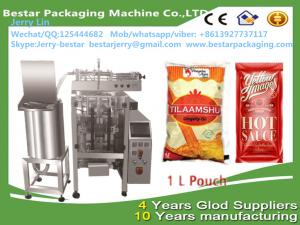 China 1L Poly Bag Packing Machine  Edible Oil Packaging Machinebestar packaging machine on sale