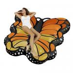 OEM Floating Mat Butterfly Sea Inflatable Ride On Pool Float Summer PVC Lounger