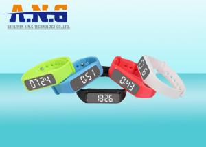 China Multifunction Hf Rfid Tags,Custom Printed Rfid Wristbands With Led Pedometer on sale