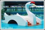 Cygne d'équipement de parc aquatique le petit badine la glissière d'eau, glissières de piscine d'eau de fibre de verre pour des enfants