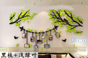 China New design large family tree acrylic wall decal and sticker wall art DIY Photo gallery frame decor sticker on sale