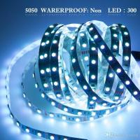 Non-Waterproof 5M/roll Cool/Warm White 300 LEDs SMD 5050 Flexible led Strip Light