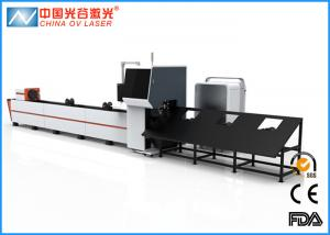 China Galvanized Steel Laser Tube Cutting Equipment with IPG Nlight Raycus on sale
