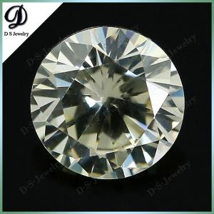 China light yellow round shape loose cubic zirconia stones/synthetic cz gemstone on sale