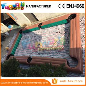 China Small Inflatable Sports Games Inflatable Football Pitch With CE / UL Blower supplier