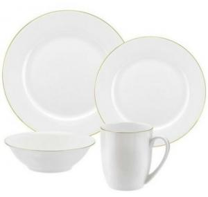 China Royal Worcester Bone China Dinnerware Sets 16 Piece With Gold Rim on sale