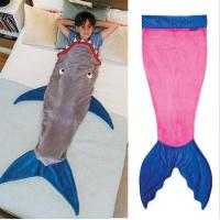 China Shark Sleeping Bag Kids Shark Tail Blanket on sale