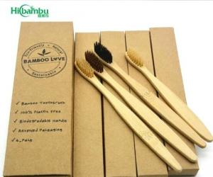 China wholesale adult & kids organic clean toothbrush with biodegradable brush Ecofriendly Bristles with logo on sale