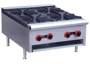 China Commercial Restaurant Cooking Equipment Table Top Gas Stove With 1 / 2 / 4 / 6 Burners on sale