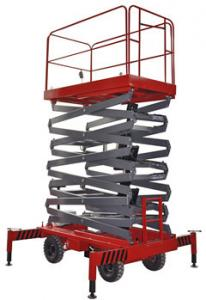 China 12 Meters Hydraulic Mobile Scissor Lift for Work Shop , Theatre on sale
