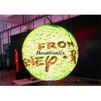SMD P4.8 Spherical Led Video Ball High Brightness , Cylindrical Led Display