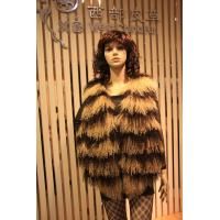 Winter 2014 Tibet Lamb Skin Vest for Lady/Striped Sheepskin Vest