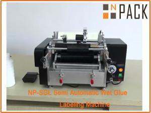 China Semi automatic wet glue labeling machine on sale