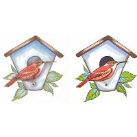 China Vector art for bird's nest and house 5 service for your team logo, Uniforms on sale