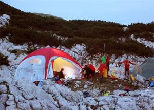 China Inflatable Dome Tent with Printing Inflatable X Tent for Camping on sale