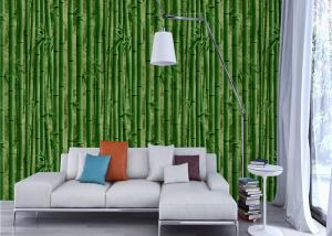 China 3D Kids Room Country Style Wallpaper , Nature Bamboo Pvc Embossed Vinyl Wallpaper on sale
