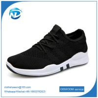 factory price cheap shoes 2019 New Design Lace-up Textile Fabric Men Sport Running Shoes