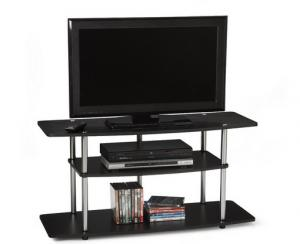 Fashion Black Wooden Modern Tv Stands For 42 Inch Lcd Plasma