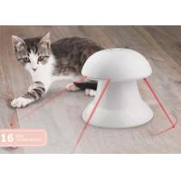 360 Degree Plastic Automatic Pet Laser Toy , White Interactive Laser Cat Toy With Battery