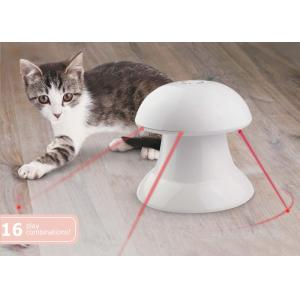 China 360 Degree Plastic Automatic Pet Laser Toy , White Interactive Laser Cat Toy With Battery on sale
