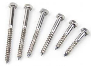 China Hexagon Head Coach 316 Stainless Steel Lag Bolts Screw M10 In Construction Projects on sale