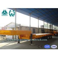 Low Gravity 3 Axles Hydraulic Low Bed Trailer With Hydraulic Crawling Ladder