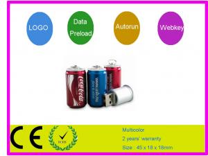 China Coca cola bottle shape 1G 2G 4G 16G 32G Customized USB Flash Drive AT-308 on sale