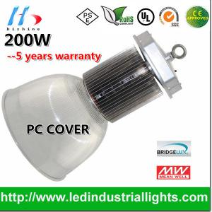 China 200W AC90 - 295V Bridgelux LED PC reflector High Bay Light For Warehouses on sale