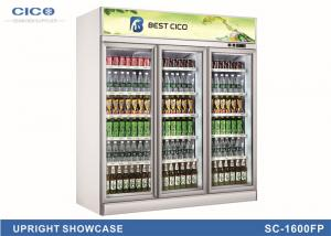 China High Capacity Upright Display Refrigerator / Upright Showcase Cooler on sale