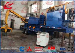 China Trailer Portable Hydraulic Metal Scrap Baler Logger Car Bodies Light Metal Scrap Remote Control on sale