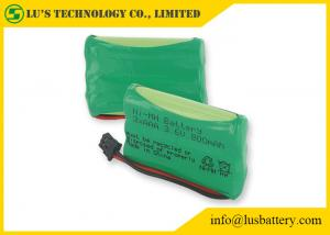 China Customized Color NIMH Batteries AAA Rechargeable Phone Battery 3.6 V 800mah on sale