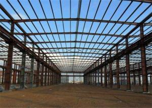 China Prefab Modular Steel Construction , Gable Frame Light Steel Frame Building on sale