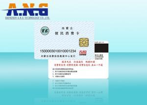 China Rfid Digital Contact Smart Card 256 Bytes Memory 85.5×54×0.82mm on sale