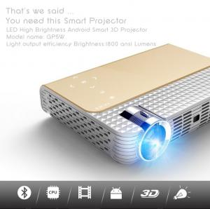 China simplebeamer GP5W,1280x800Pixels 3D pocket Projector with Android 4.44 OS,wifi Smart,DLP,Bluetooth on sale