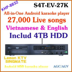 China 27850 Vietnamese&English songs include 4TB HDD + All-in-one Android KTV home jukebox karaoke system DVD player + TV on sale
