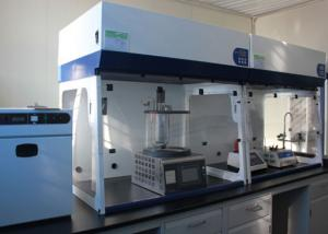China Laboratory Chemical Ductless Filtering Table Top Fume Hood With Fluorescent Light on sale