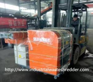China Jumbo Bag Scrap Plastic Film Shredder Double Shaft For Soft Type Materials on sale