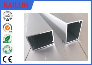 China HVAC Systems Aluminium Frame Section Profile , Hollow Extruded Aluminum Rectangular Tubing on sale
