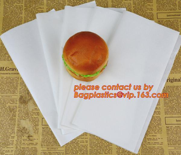 400x Chinese Greaseproof Paper 660x400mm White 26gsm Takeaway Sandwiches Wrap