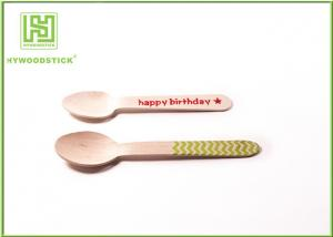 China Eco Friendly Cutlery Cutlery Red Heart Printing 110mm Disposable Dessert Spoons Included on sale
