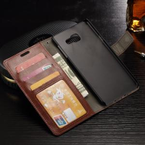 China Protective Galaxy A3 Samsung Leather Wallet Case Crazy Horse Side Open 47.3g on sale