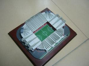 China Unique modern design polyresin football gymnasiums Stadium 3D Model on sale