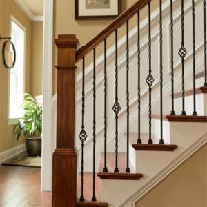China Wrought Iron Stair Railing or Handrails for home and garden indoor or outdoor usage on sale