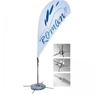China Polyester Promotional Feather Flags Advertising exhibition event outdoor Flying Beach on sale